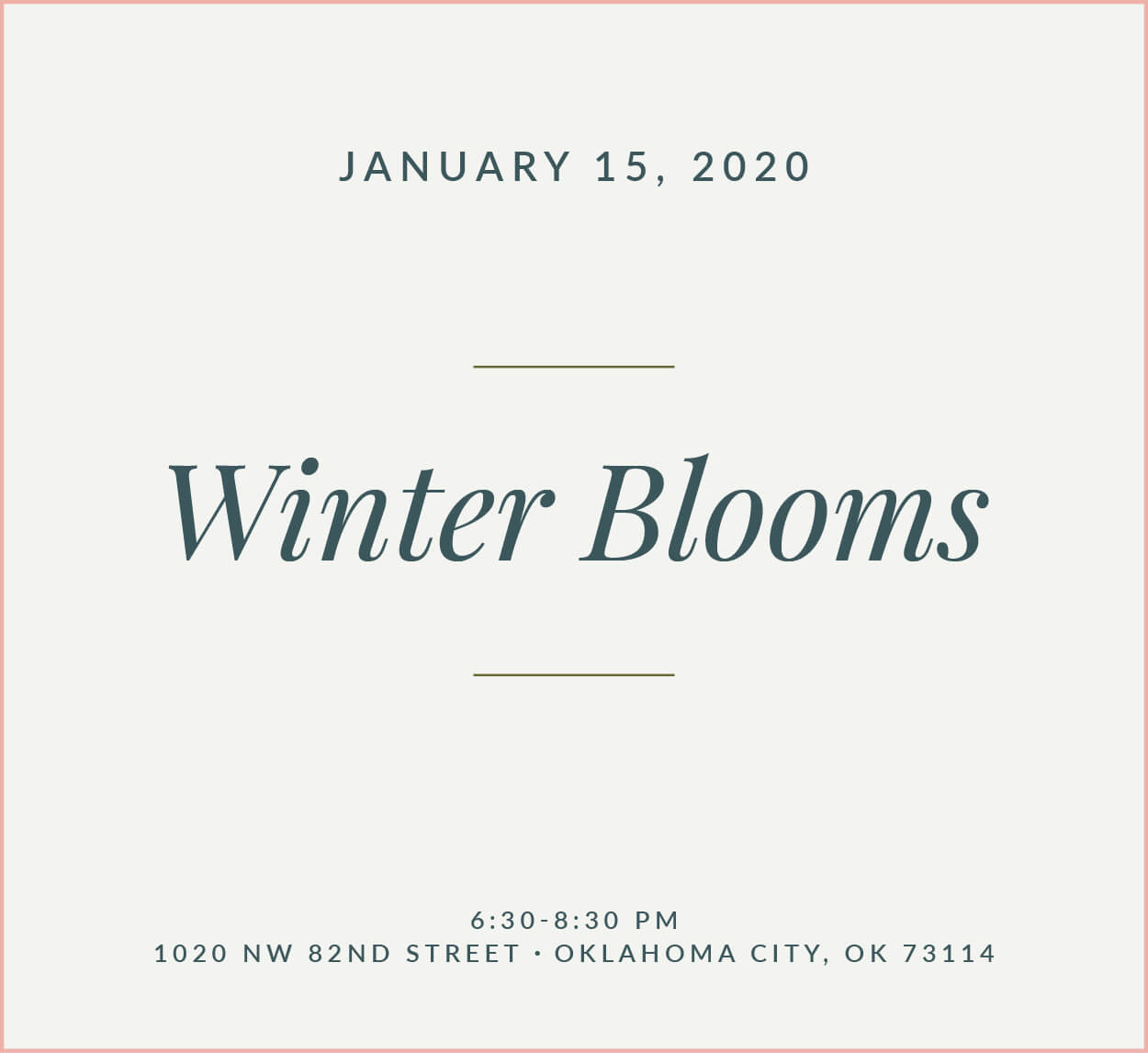 Winter Blooms Flower School The Fleuriste