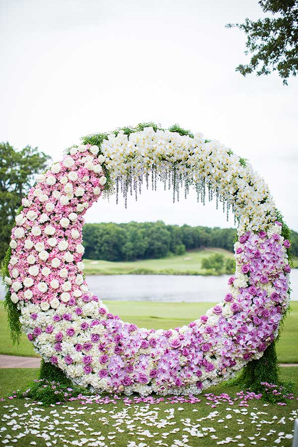 wedding floral backdrop