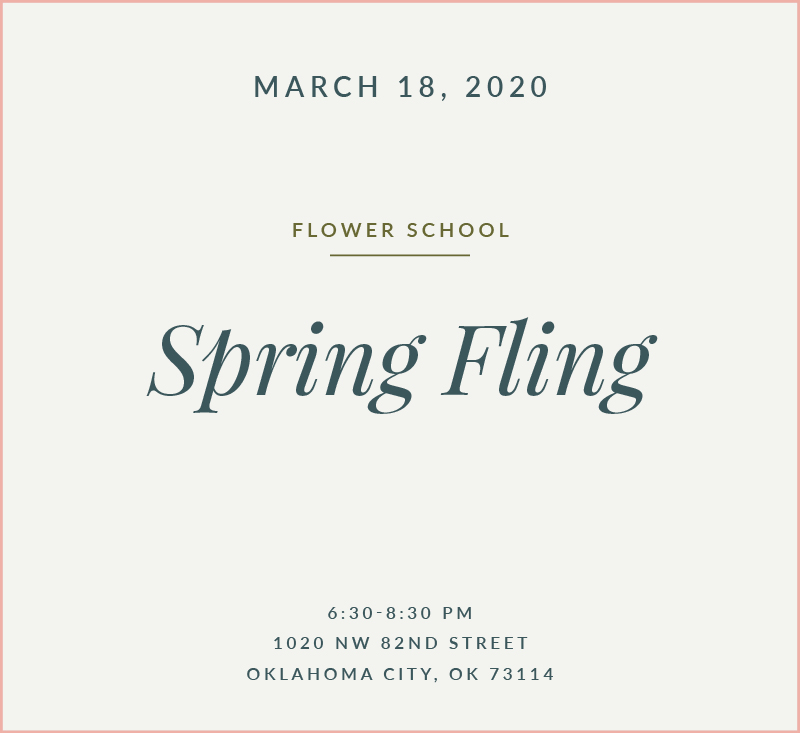 Spring Fling Flower School The Fleuriste