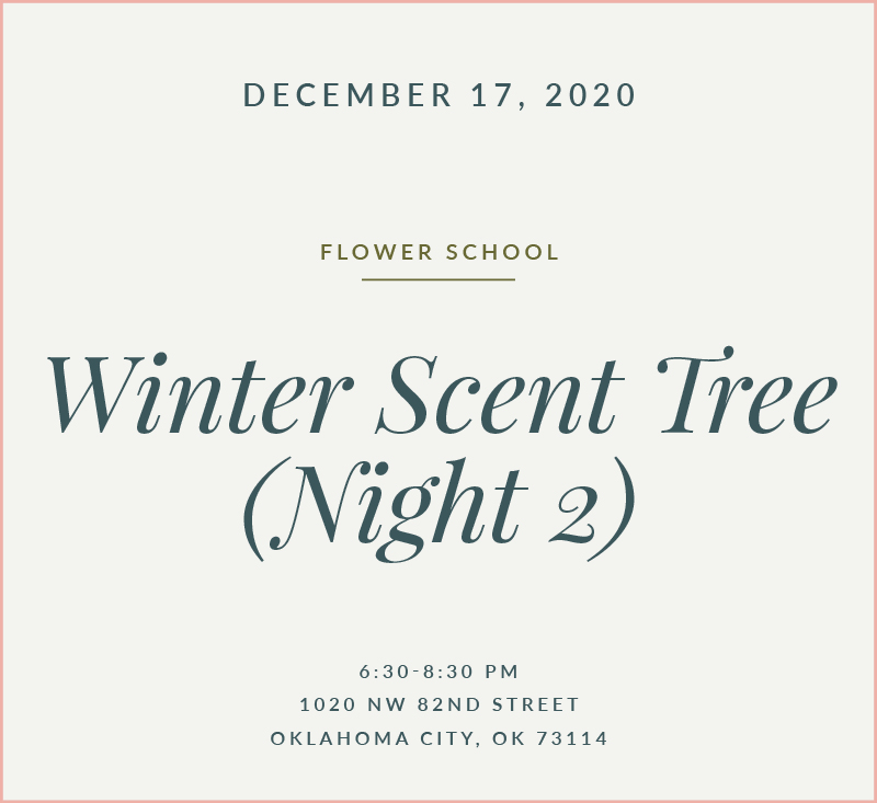 Winter Scent Tree Flower School The Fleuriste