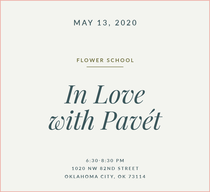 In Love with Pavet Flower School The Fleuriste