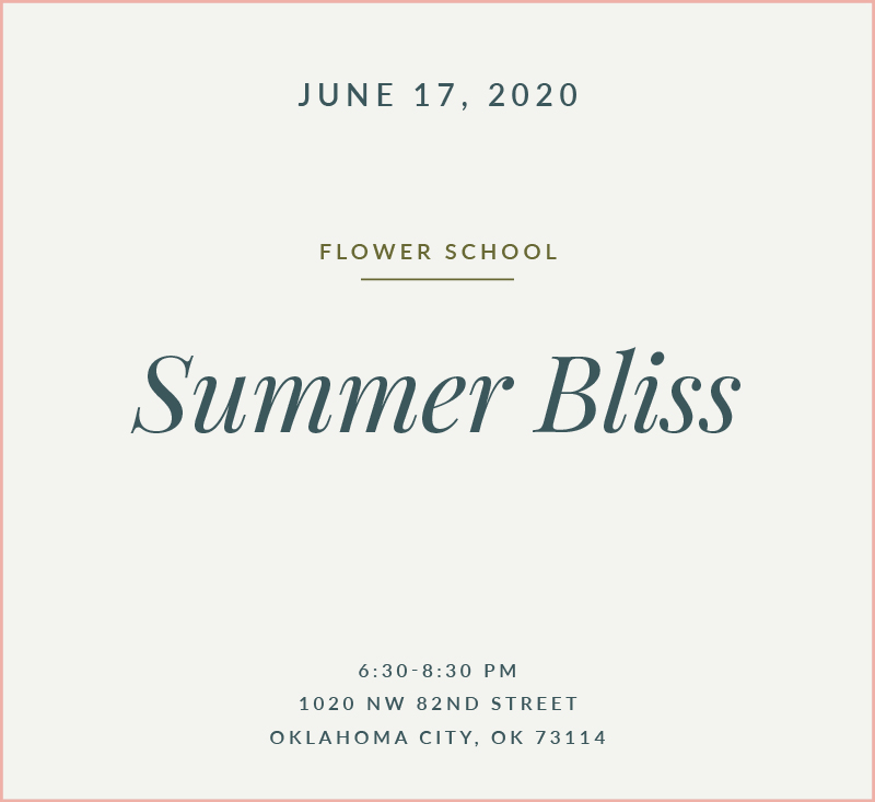 Summer Bliss Flower School The Fleuriste