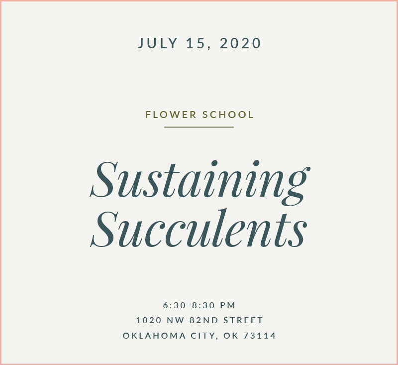 Succulents Flower School The Fleuriste
