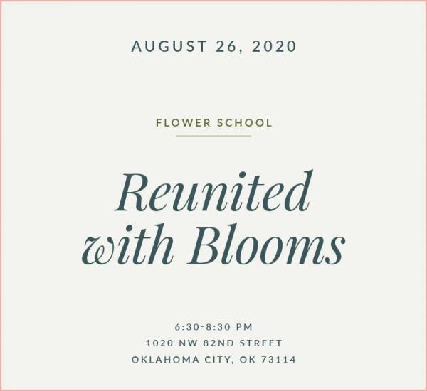 Reunited with Blooms Flower School The Fleuriste