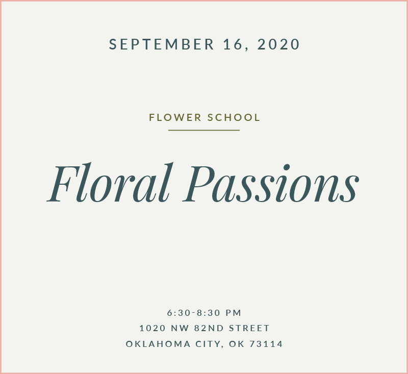 Floral Passions Flower School The Fleuriste