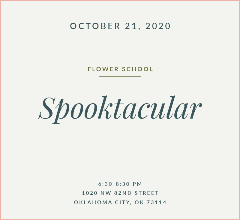 Spooktacular Flower School The Fleuriste